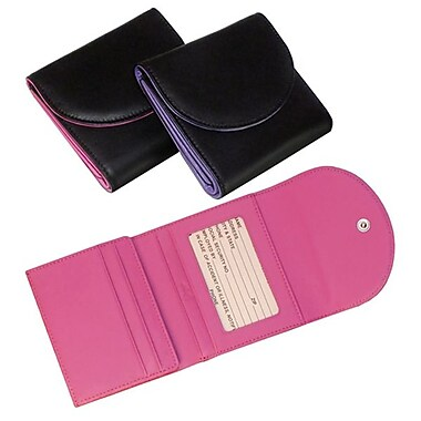 Royce Leather – Portefeuille anti-RFID pour femme, bleu Royce