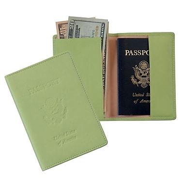 Royce Leather Debossed Passport Jacket, Key Lime Green