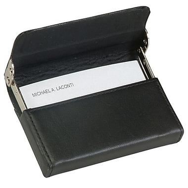 Royce Leather – Étui pour cartes avec cadre horizontal, noir