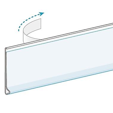 KostklipMD – Porte-étiquette ClearVisionMD monté à plat, ruban transparent, paquet de 100