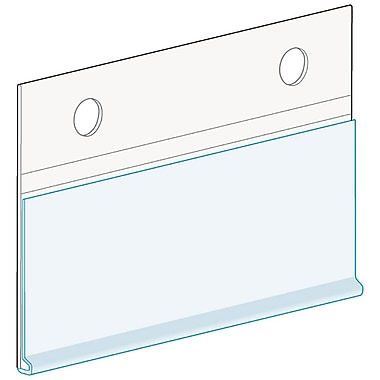 KostklipMD – Porte-étiquettes ClearVisionMD pour clôture, suspendu avec attaches à bouton, blanc, paquet de 50