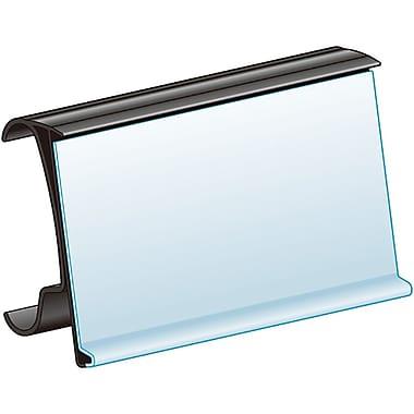 KostklipMD – Porte-étiquettes ClearVisionMD avec charnières, style MetroMD, 1,25 x 44 po, paquet de 25