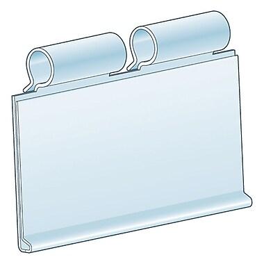 KostklipMD – Porte-étiquette ClearVisionMD pour grille à pouding, bascule vers le haut, transparent