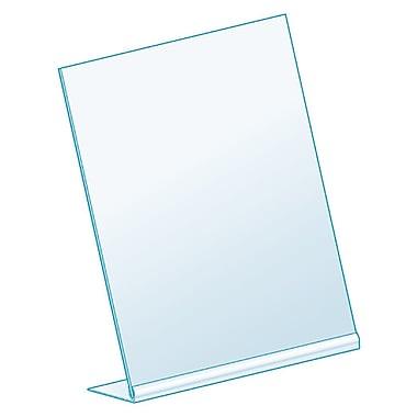 KostklipMD – Porte-affiche incliné en L, transparent, paquet de 25