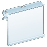 Kostklip® ClearVision® T-Wire, Swing-Up Label Holder, Clear, 100/Pack