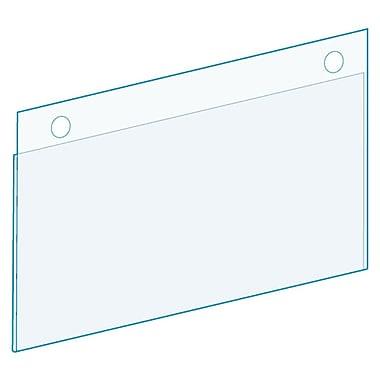 KostklipMD – Porte-étiquette à clôture avec attaches à bouton, transparent, paquet de 25