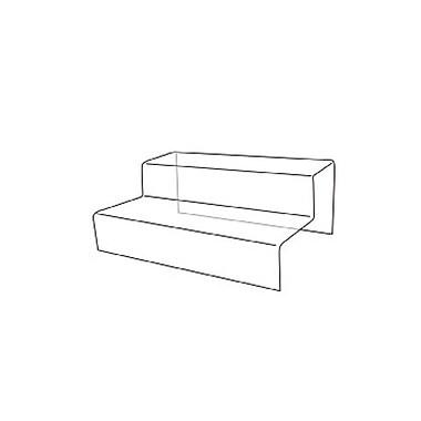 Support en acrylique à 2 niveaux