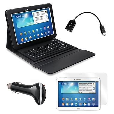 Mgear Accessories 935878 PU Leather Keyboard Folio Case for Samsung Galaxy Tab 3 Tablet,Black