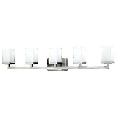 Z-Lite Tidal (1900-5V) - Luminaire pour salle de bains à cinq lumières, 5 po x 40 po x 8 po