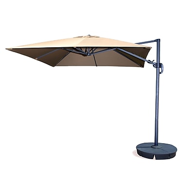 Swim Time™ Santorini II Fiesta 10' Square Cantilever Umbrellas With Tilt