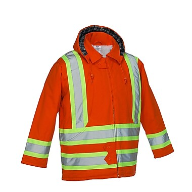 Forcefield Lined Safety Parka, Orange