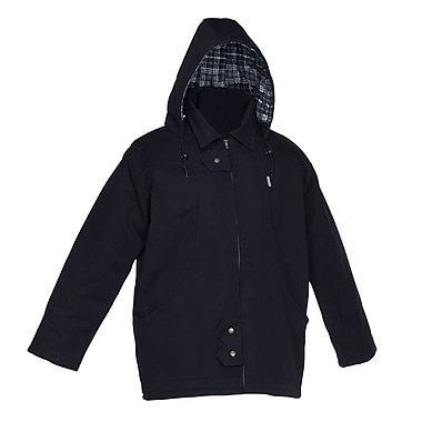Forcefield Lined Canvas Parka, Black
