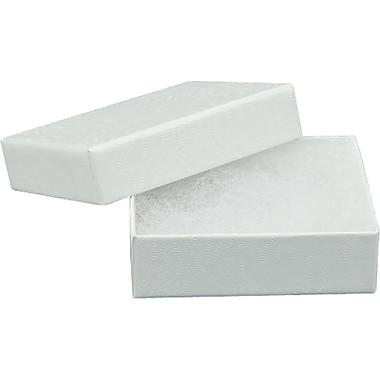 Gunther Mele Ltd. – Boîtes à bijoux doublées de coton, blanc, 100/paquet