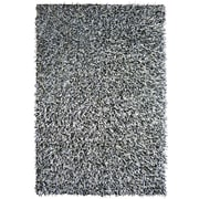 Lanart Fashion Shag Area Rug, Black