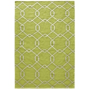 Lanart Diamond Flat Weave Area Rug, Green