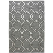 Lanart Diamond Flat Weave Area Rug, Grey