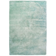 Lanart Fur Shag Area Rug, Blue