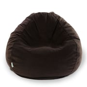 Majestic Home Goods Indoor Micro-Velvet Polyester/Linen Small Classic Bean Bag Chairs