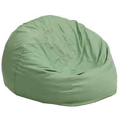Flash Furniture – Siège-sac solide en croisé de coton surdimensionné