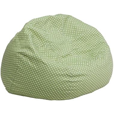 Flash Furniture – Siège-sac en croisé de coton surdimensionné à pois