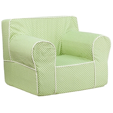 Flash Furniture Cotton Twill Oversized Dot Kids Chair With White Piping