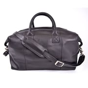 Royce Leather – Sac de sport de voyage, noir