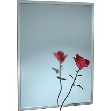 ASI – Miroirs avec cadre verrouillable en U en acier inoxydable, verre à glace