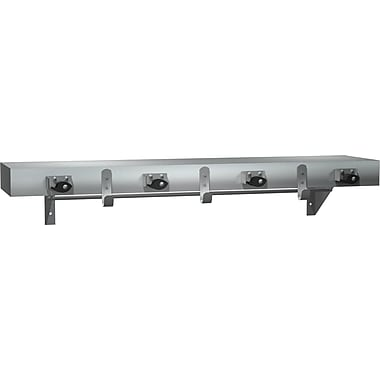 ASI Stainless Steel Shelf with Hooks and Mop Strips