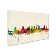 "Trademark Michael Tompsett ""Bristol England Skyline III"" Gallery-Wrapped Canvas Arts"