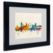 "Trademark Michael Tompsett White Matte W/Black Frame ""Brighton England Skyline"" Arts"