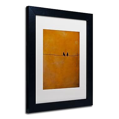 Trademark Nicole Dietz White Matte W/Black Frame