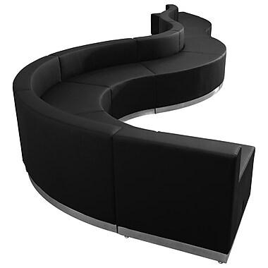Flash Furniture – Ensemble de réception en cuir souple Alon série ZB803560SBK, 9 pièces