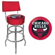 "Trademark 41 3/4"" NBA Padded Swivel Bar Stools With Back"