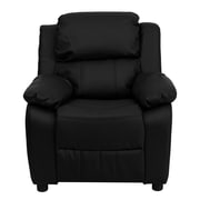 Flash Furniture Deluxe Contemporary Heavily Padded Leather Kids Recliners W/Storage Arms