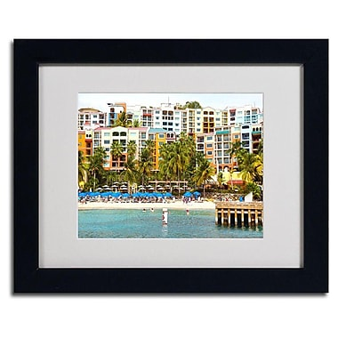 Trademark Fine Art CATeyes 'Virgin Islands 8' Matted Framed Art