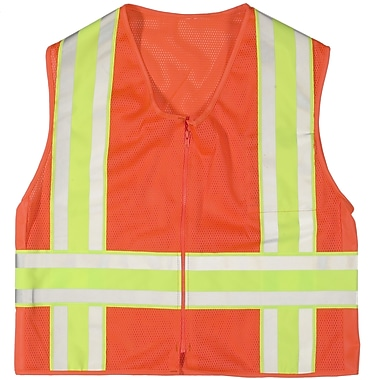Mutual Industries MiViz Orange ANSI Class 2 High Visibility Deluxe Dot Mesh Safety Vests