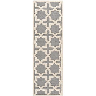 Safavieh Trinity Cambridge Silver/Ivory Wool Pile Area Rugs