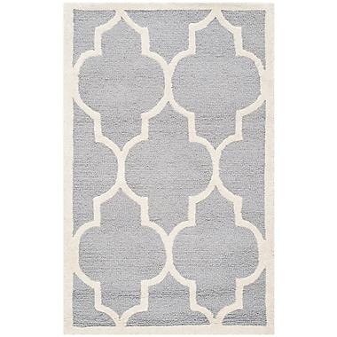 Safavieh Penelope Cambridge Silver/Ivory Wool Pile Area Rugs