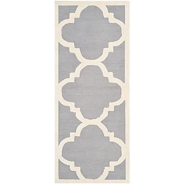 Safavieh Jasmine Cambridge Silver/Ivory Wool Pile Area Rugs