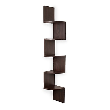 Danya B XF11035 Large Laminated Corner Wall Mount Shelf