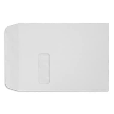 LUX 9 x 12 Open End Window Envelopes, White Linen