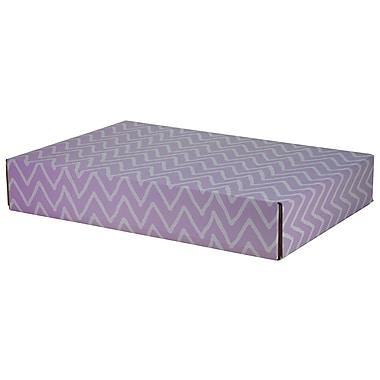 GPP Gift Shipping Box, Classic Line, Purple Zig Zag