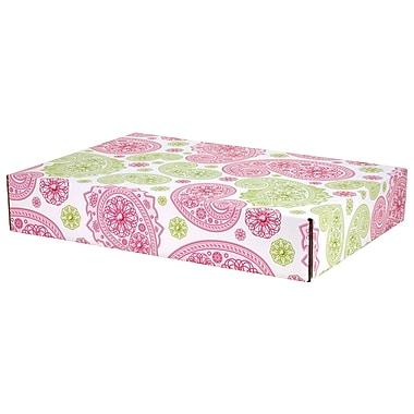 GPP Gift Shipping Box, Lisa Line, Paisley Pink/Green