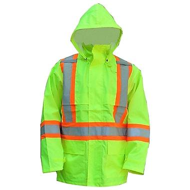 Open Road – Vestes imperméables de sécurité 150 deniers étanche haute visibilité, vert fluorescent