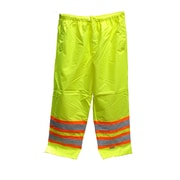 Open Road 150D Hi-Viz Waterproof Safety Waist Pants, Fluorescent Green