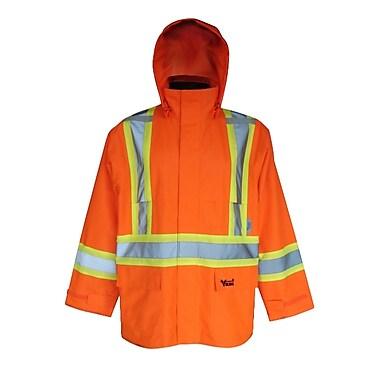 Viking – Vestes de sécurité imperméables Handyman 300D, orange fluorescent