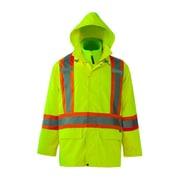 Viking Journeyman 300D Waterproof Safety 3in1 Jackets, Fluorescent Green