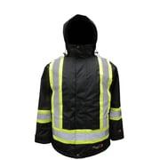 Viking – Parkas de sécurité isolée imperméable Freezer Journeyman 300D FR professionnelle, traitement antiflamme, noir