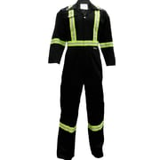 Viking CSA Striped Safety Coveralls, Black