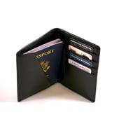 Royce Leather – Portefeuille de voyage anti-RFID, noir